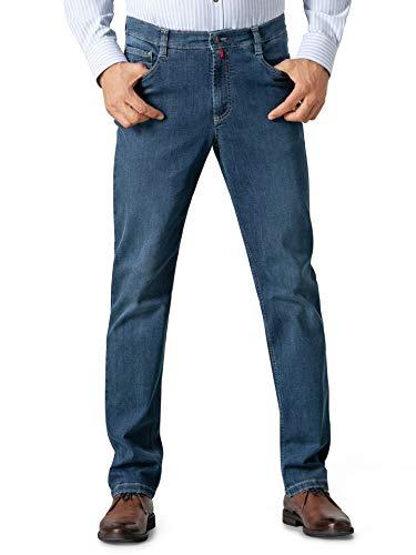 Walbusch Herren Bügelfrei Flex Jeans Comfort Fit einfarbig Stone 50