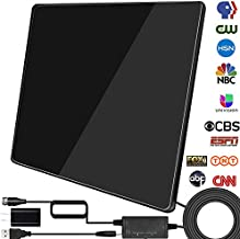 [2020 Newest] HDTV Digital Antenna, TV Antenna Indoor Amplified 200 Miles Range Support 1080p 4K &All TV's Digital Antenna with Amplifier Signal Booster,17FT Coax Cable/USB Power Adapter (Black)