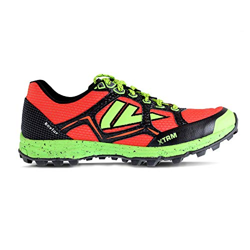 VJ XTRM OCR Shoes - Trail Running Shoes Women and Mens with a Full Length Rock Plate - Made for Rocky and Technical Mountain Trails and Obstacle Course Races - Men's 11   Women's 12.5 Red