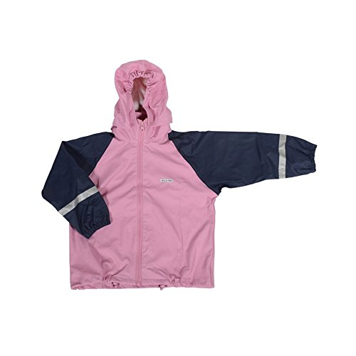 Ocean PU Wind- und Regenjacke für Mädchen - Jacke in Rosa (92/98)