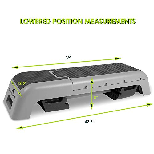 ProsourceFit Fitness Aerobic Deck Stepper with Resistance Band, Multifunctional Workout Bench for Weight Training, Plyometrics for Home Gym
