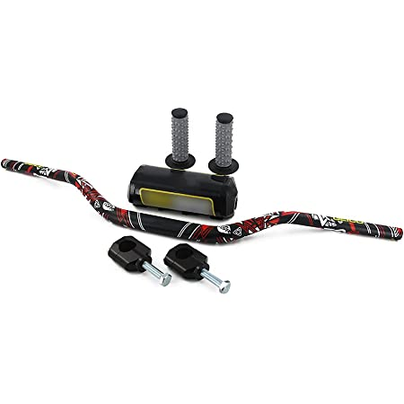 "1-1/8"" 28mm Handlebar Fat Handle Bar + Riser Mount Clamp + Pad + Grips Set For KX125 KX250 KX250F / CR125R CR250R CRF250R CRF450R CRF450RX CRF250X CRF450X / Dirt Bike Dual Sport"