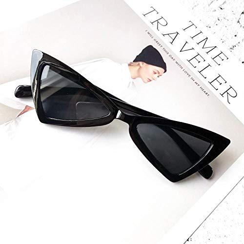 Moda Occhiali da Sole A Triangolo Piccolo Cat Eye Occhiali da Sole Donna Moda Vintage Occhiali da Vista Occhiali da Sole alla Moda Femminili Occhiali da Sole Uv400 Nero Spedizione Gratuita