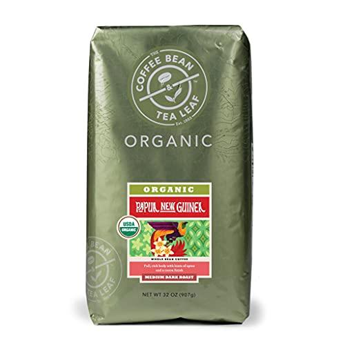 The Coffee Bean & Tea Leaf Organic Medium Dark Roast Whole Bean Coffee Beans - Papua New Guinea - 32 Ounce Bag