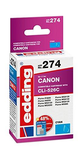 edding Tintenpatrone EDD-274 ersetzt Canon CLI-526C - Cyan - 10,5ml