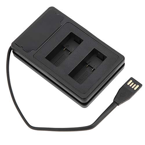 BIKING Cargador de batería de la cámara, Cargador de batería de la cámara Ranura de Carga Doble Pantalla LCD Entrada USB Tipo C con Cable para Hero9