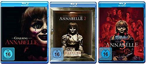 Annabelle 1-3 (Teil 1+2+3, 1 bis 3) [Blu-ray Set]