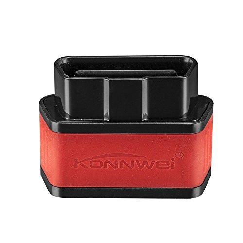 KONNWEI GZCRDZ Bluetooth 3.0 OBD2 Scanner, Android e Windows Dedicato OBD II strumento di scansione diagnostica per auto con interruttore Auto Sleep e APP professionale gratuita (nero+rosso)
