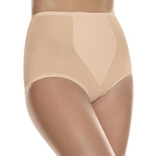 Hanes Shapewear Women's Light Control 2 Pack Tummy Control Brief, Beige/Beige,