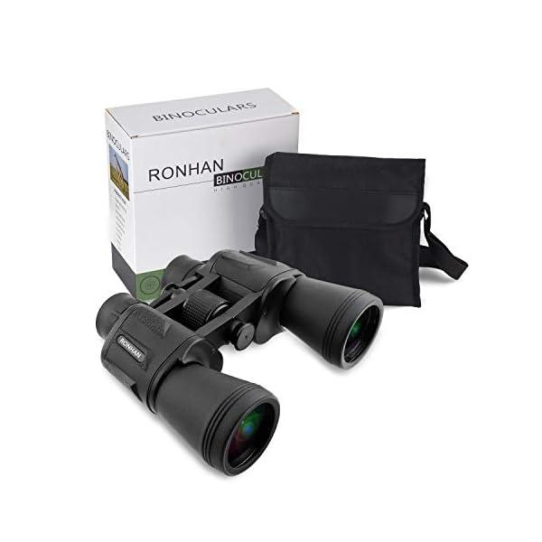20x50 High Power Binoculars, BAK4, Large Eyepiece, Portable and Waterproof Binoculars Telescope with Multilayer-coated Lenses for Adult Bird Watching Football Safari Sightseeing Climbing Hiking Trip…