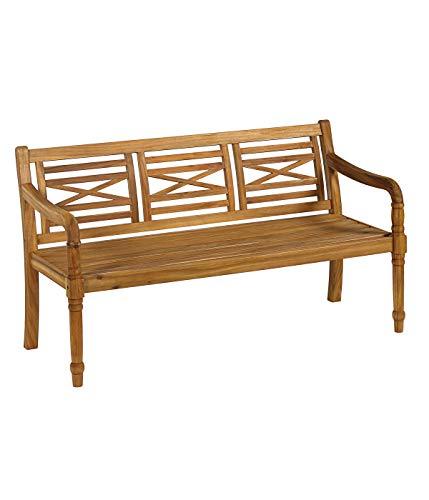 Dehner Gartenbank Canterburry, 3-Sitzer, ca. 144 x 90 x 60 cm, FSC® Akazienholz, geölt, Natur