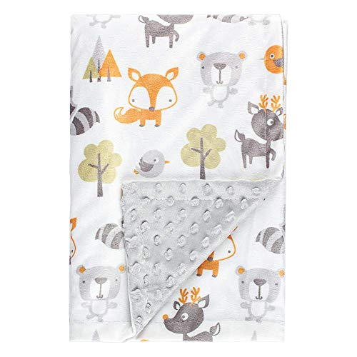 Fox Baby Blanket Boys Soft Minky Baby Blanket Fleece Baby Girl Security Fox Blanket Plush Dot...