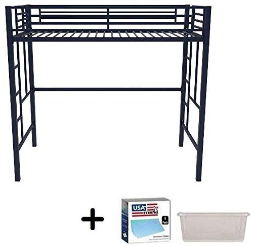 Your Zone Metal Loft Twin Bed by SuperIndoor (Single, Black) (Twin, Black)