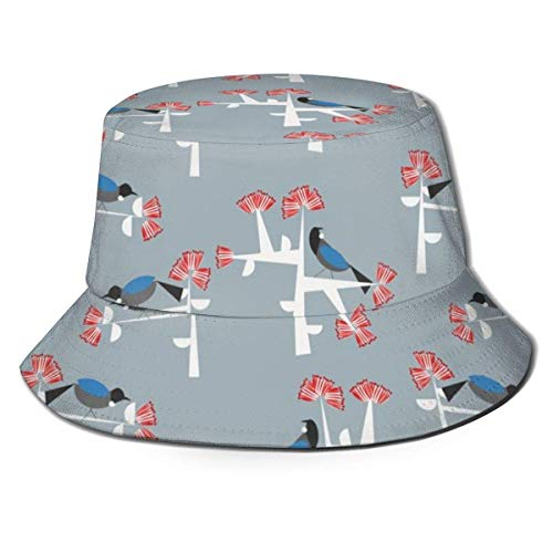 Trushop Unisex Bucket Hat Fisherman Hat Cap Tui U Pohutukawa for Men Women