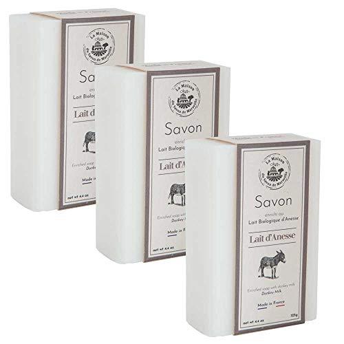 3 x Eselsmilchseife - Frische Bio-Milch 125g - La Maison du Savon von Marseille
