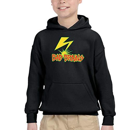 Lemonnnen Bad Brains Children's Casual Hooded Pocket Sweater Black