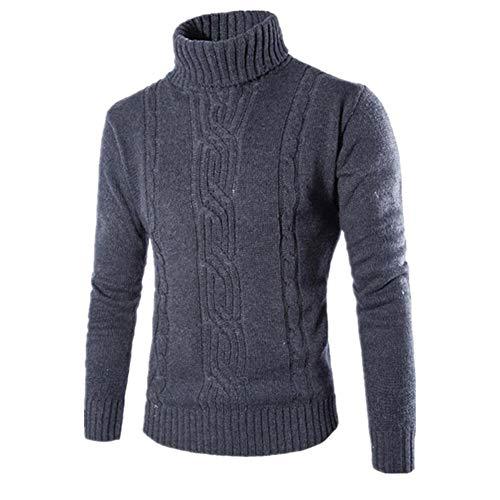 Hombre suéter suéter suéter delgado sólido sólido alta solapa jacquard cobertura ropa de hombre británica cuello alto