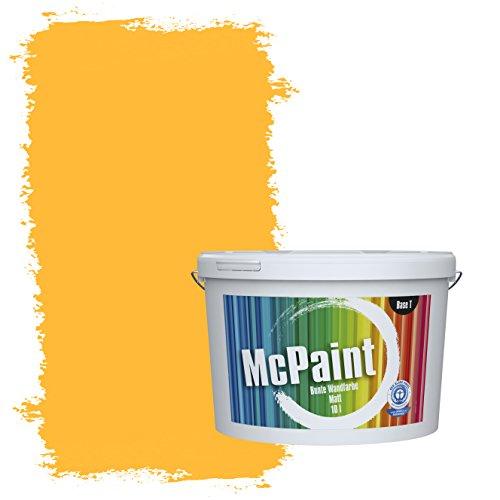 McPaint Bunte Wandfarbe Rapsgelb - 10 Liter - Weitere Gelbe Farbtöne Erhältlich - Weitere Größen Verfügbar