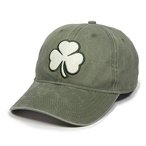 Shamrock Felt Patch Dad Hat - Adjustable Polo Style Baseball Cap for Men & Women