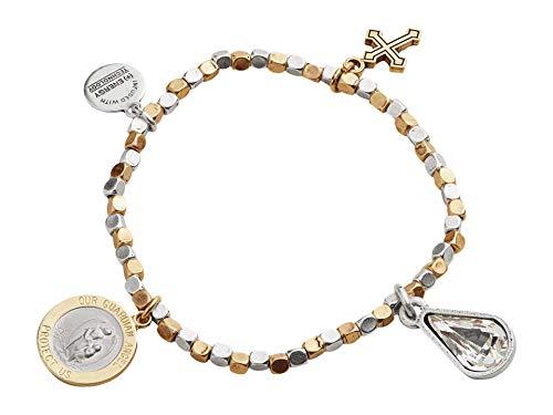 Alex and Ani Wisdom Multi Charm Stretch Bracelet One Size, Rafaelian Gold