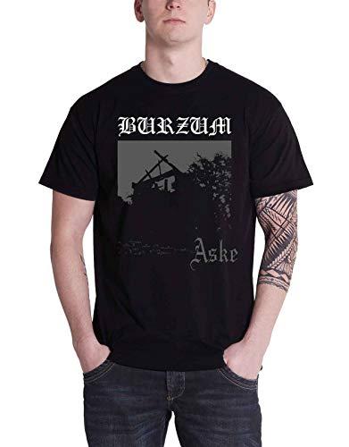 Burzum Aske Album Cover Ufficiale Uomo nuovo nero T Shirt