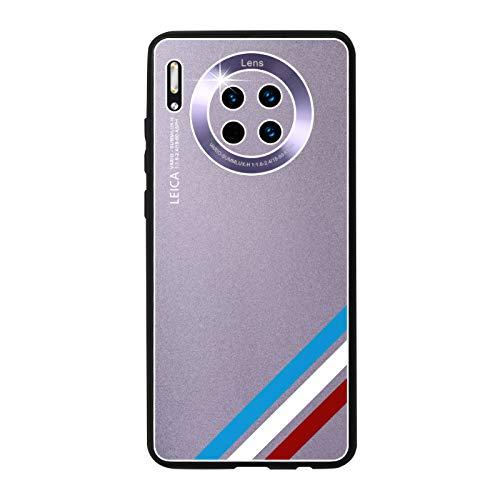 GOBY Coque Huawei mate 30 Case TPU Soft Housse Protection Mirror Absorption des Chocs Téléphone en Silicone métallique argenté pour Huawei mate 30 (violet)