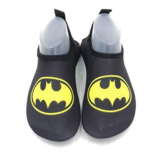 MOye Badeschuhe Strandschuhe Wasserschuhe Aquaschuhe Schwimmschuhe Surfschuhe Barfuß Schuhe für Kind,Batman,26/27EU