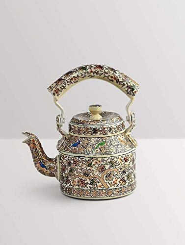Hand-painted Kaushalam OFFicial mail order Teapot: Oak 1000 Tree ml Limited price