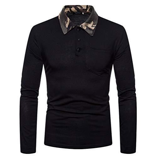 Dooxii Neue Jahreszeit V-Ausschnitt-Pullover mit Hemdkragen Mock Hemd