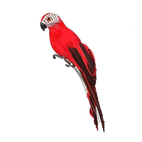 DONGKER Adornos de Pájaros Artificiales Pluma Simulación Artificial Adornos de Loros Estatuas de Modelos de Animales Realistas para la Decoración del Árbol del Jardín del Césped de Bricolaje