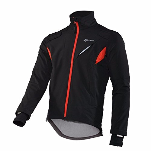 ROCKBROS Chaqueta Impermeable Antiviento Transpirable para Ciclismo Running Deportes al Aire Libre con Tira Reflectante para Otoño e Invierno para Hombre y Mujer