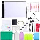 MACTING HOHO Time - Kit de cojín para lámpara, herramientas de pintura con diamante 5D, suministros de arte de panel luminoso LED