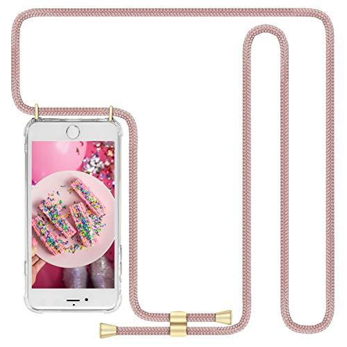 Imikoko Handykette Hülle für iPhone 7/iPhone 8/iPhone SE(2020) Necklace Hülle mit Kordel zum Umhängen Silikon Handy Schutzhülle mit Band - Schnur mit Case zum umhängen