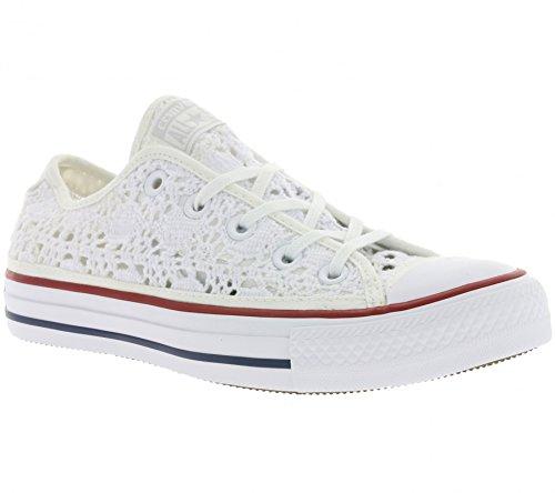 Converse Chuck Taylor All Star Crochet Schuhe Damen Sneaker Turnschuhe Weiß 549314C, Größenauswahl:36