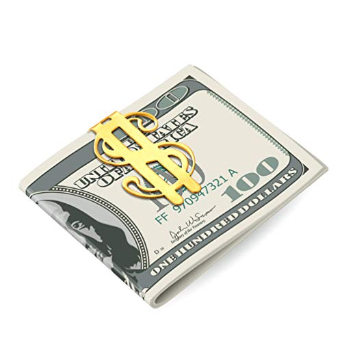 Gold Money Clips For Men Women Fathers Day Gift 18K Gold Plated Stainless Steel Metal Titanium Dollar Money Clip