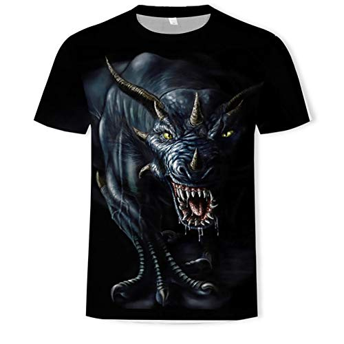 OEWFM Camiseta 3D Camiseta Hombre Animal Camiseta Camisetas de Pared 3D Camiseta Hip Hop Camiseta Fitness Ropa Hombre Casual Camiseta Top-L