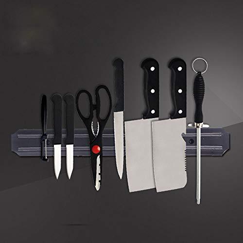 YORKING Strong Magnetic Wall Mounted Kitchen Knife Magnet Bar Holder Display Rack Strip for Kitchen Knives Metal Utensils Black