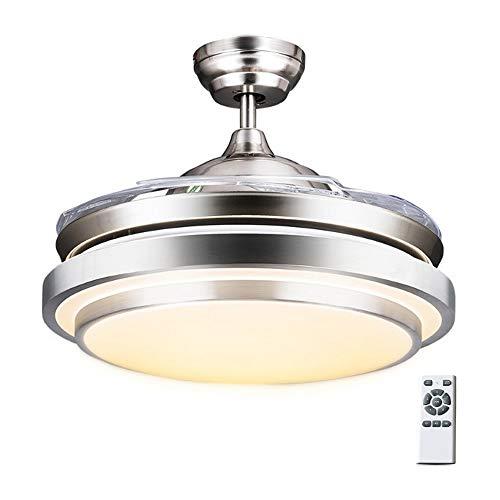 Luz del ventilador de techo con luz Fan control remoto Chandelier,Modern Fashion Retractable Blades Ventilador de techo,42inch,72W, interior hogar Iluminación de techo para sala de estar Dormitorio