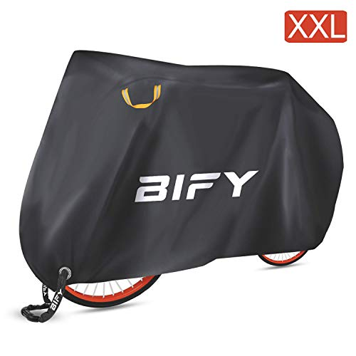 Bify high-quality bicycle/motorcycle cover, waterproof 190T, with lock holes, sun and rain protection, L/XL/XXL, XXL-190T, XXL