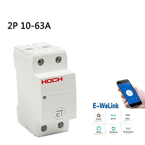 Disyuntor WIFI eWeLink Temporizador remoto Smart Home Retención magnética Switch-2P_10A