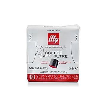 illy Classico iper Coffee capsules Medium Roast Classic Roast with Notes Of Chocolate & Caramel 100% Arabica Coffee Coffee Capsules for illy iper Coffee Machines 18 Count