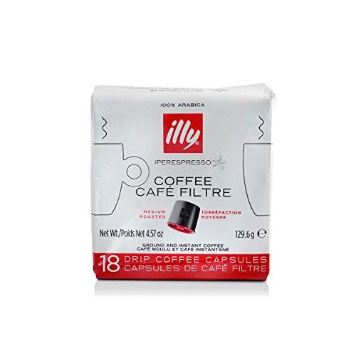 illy Classico iper Coffee capsules, Medium Roast, Classic Roast with Notes Of Chocolate & Caramel, 100% Arabica Coffee, Coffee Capsules for illy iper Coffee Machines, 18 Count
