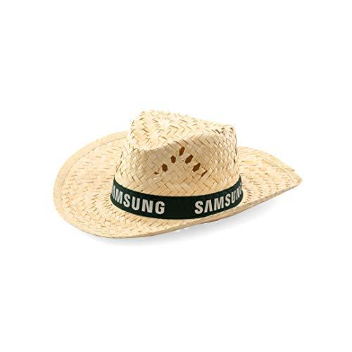 DISOK - Lote de 50 Sombreros de Paja Color Natural - Detalles y Regalos Bodas, comuniones, cumpleaños, Fiestas Eventos