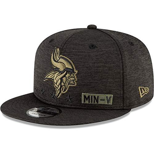 New Era NFL MINNESOTA VIKINGS Salute to Service 2020 Snapback 9FIFTY Game Cap, Größe:S/M