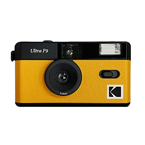 Reusable Kodak Ultra F9 35mm Film Camera, Wide Angle, Easy to use, Build in Flash and Compatible with 35mm Color Negative or Black and White Film (Film and Battery NOT Included) (Yellow)
