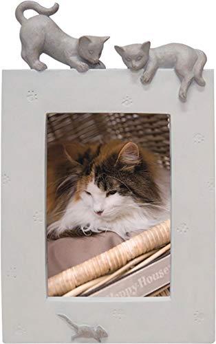 Fotolijst kat staand beige 16,5 x 27 cm