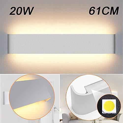 Kambo LED Wandlampe Innen 20W Modern Wandleuchte IP44 Up Down Warmweiß 61CM AC85-265V für Badlampe Wohnzimmer Schlafzimmer Treppenhaus Flur Wandbeleuchtung