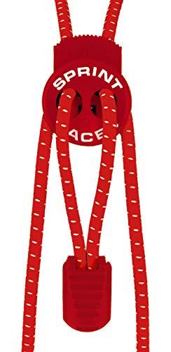 Sprint-Laces - elastische Schuhbänder für Running, Triathlon, Trekking, Fitness, Freizeit, etc. Farbe Cherry Red