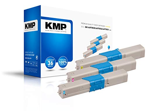 KMP Toner Oki 449735/44973534/44973533 Comp. O-T37V MULTIPACK cyaan geel magenta