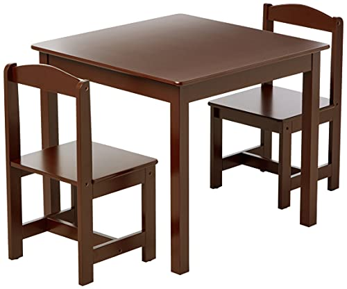 Target Marketing Systems Hayden Kids Table And Chairs, Espresso